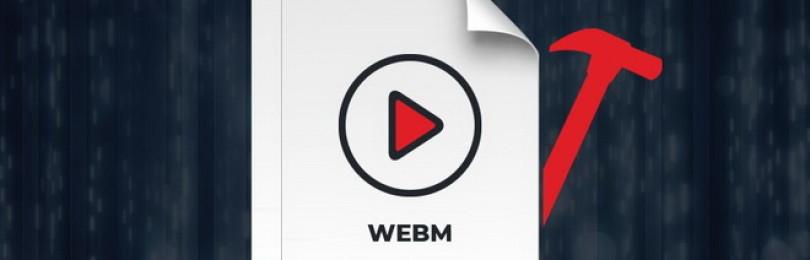 Как открыть и форматировать формат WebM